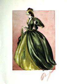Эскиз знаменитого платья