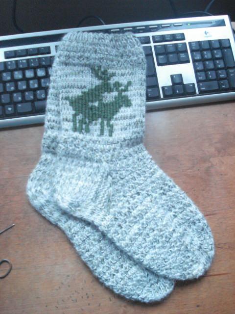 Схема носок с оленями
