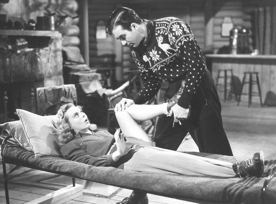 """Кадр из фильма """"Серенада Солнечной долины"""" 1941 год"""