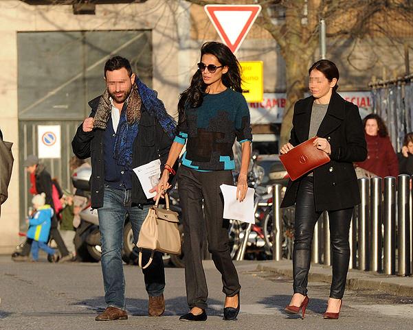 EXCLUSIVE: Goga Ashkenazi arrives at Buzzi hospital in Milan, Italy