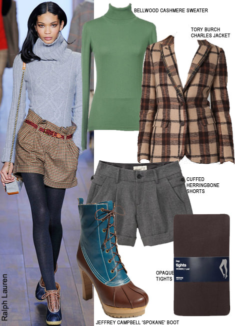 How to wear short for fall ralph lauren herringbone shorts tight