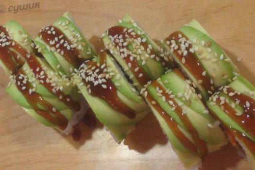 Зеленый дракон (мастер-класс) и прочие вкусности от СУШИЯ