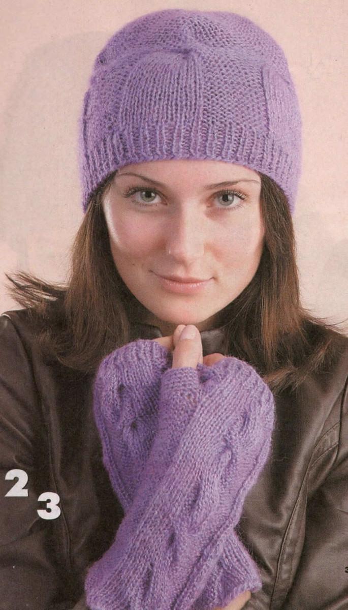 схемы вязания зимних женских шапок для круглого лица