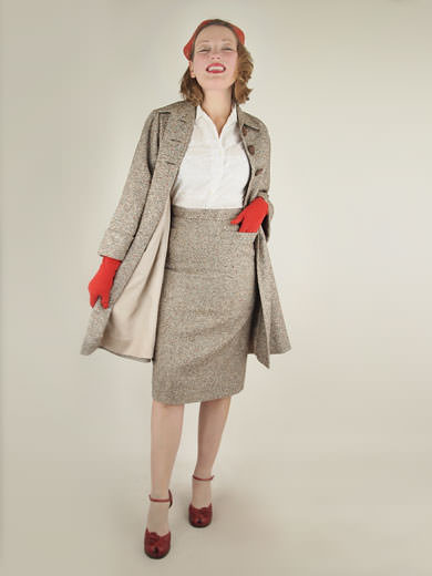 -0item175.1-50s-vintage-donegal-tweed-swing-coat-pencil-skirt-suit
