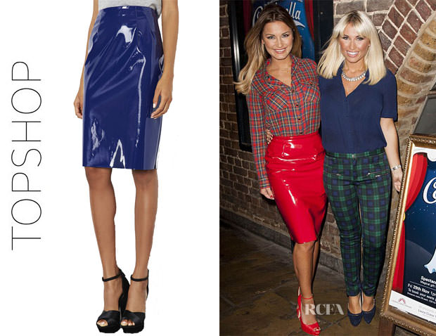 Sam-Faiers-Topshop-Vinyl-Pencil-Skirt