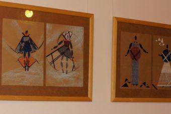 Экспозиция эскизов Полины Веллер