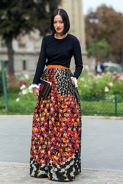 Paris Fashion Week - Spring/Summer 2015 - Streetstyle Featuring: Tiffany Hsu Where: Paris, France When: 29 Sep 2014 Credit: The Styleograph/WENN.com