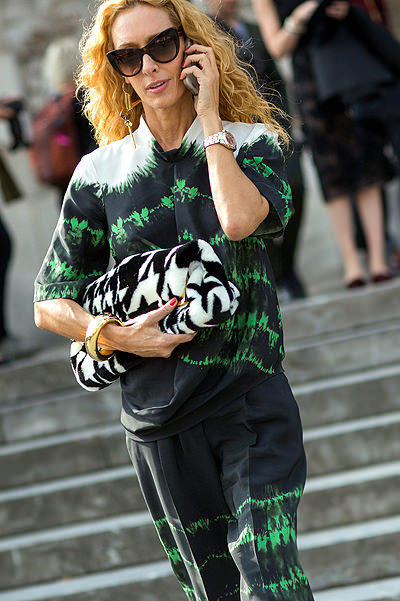 Paris Fashion Week - Spring/Summer 2015 - Streetstyle Featuring: Elina Halimi Where: Paris, France When: 29 Sep 2014 Credit: The Styleograph/WENN.com