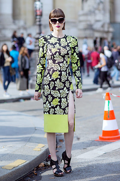 Paris Fashion Week - Spring/Summer 2015 - Streetstyle Featuring: Coco Rocha Where: Paris, France When: 29 Sep 2014 Credit: The Styleograph/WENN.com