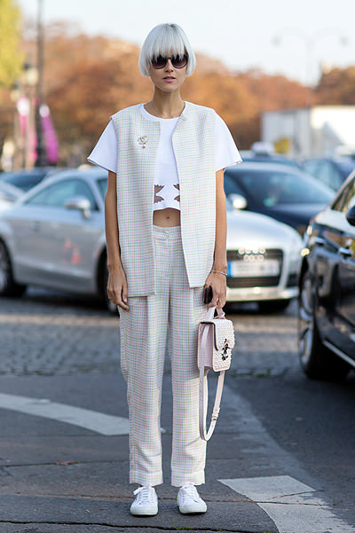 Paris Fashion Week - Spring/Summer 2015 - Streetstyle Featuring: Linda Tol Where: Paris, France When: 30 Sep 2014 Credit: The Styleograph/WENN.com