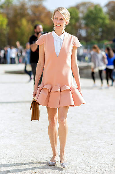 Paris Fashion Week - Spring/Summer 2015 - Streetstyle Featuring: Indre Rockefeller Where: Paris, France When: 30 Sep 2014 Credit: The Styleograph/WENN.com