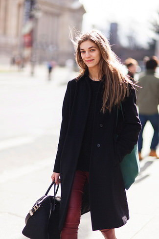 black-cable-sweater-and-black-coat-and-burgundy-skinny-pants-and-black-tote-bag-large-2329