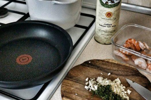 Креветки, сковорода Tefal и новый конкурс