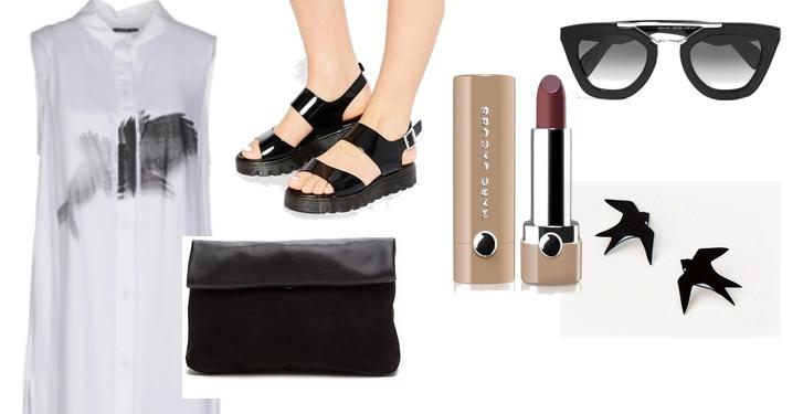 черные сандалии с чем носить