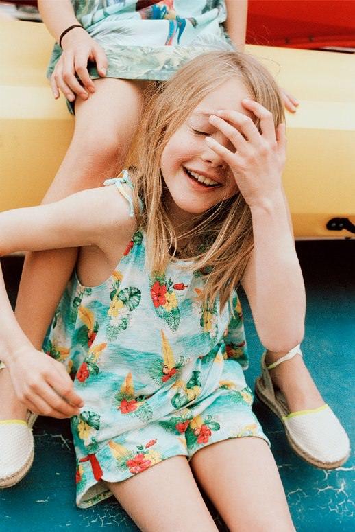 Детский лукбук Zara июль 2016