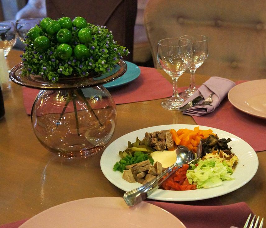 Грузинская кухня в ресторане Purpur Amore