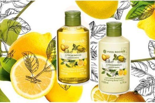 Лимон и базилик — гель для душа и молочко для тела от Yves Rocher