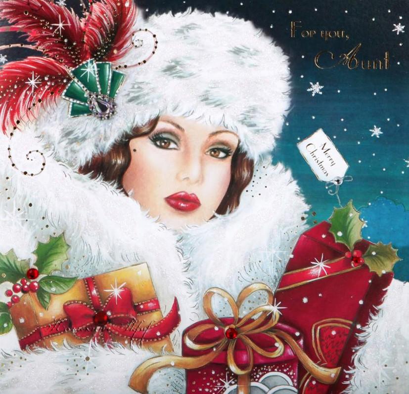 Рождественские открытки в стиле Арт Деко