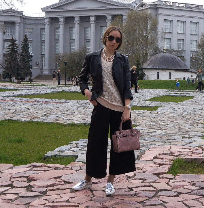 расслабленный образ мода весна 2017 кюлоты