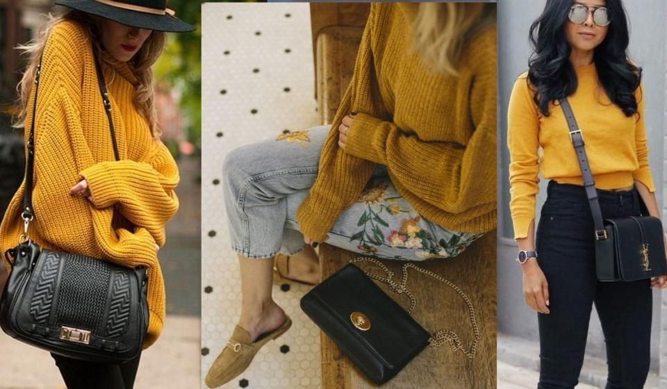 Оттенки желтого: ищем свитер для осени