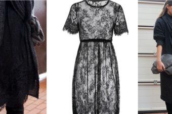 Кружевное платье в холодный сезон