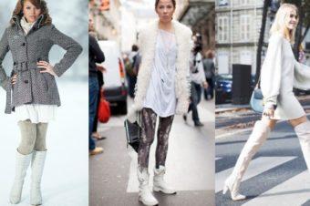 Белая обувь зимой — носить или нет?