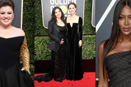 Golden Globe 2018 — черные платья красной дорожки