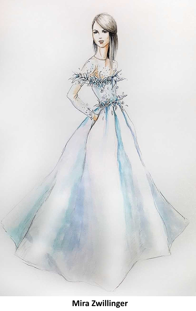 Эскизы свадебного платья для Меган Маркл