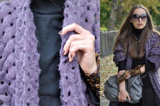 Кардиган вместо пальто: идея для бабьего лета