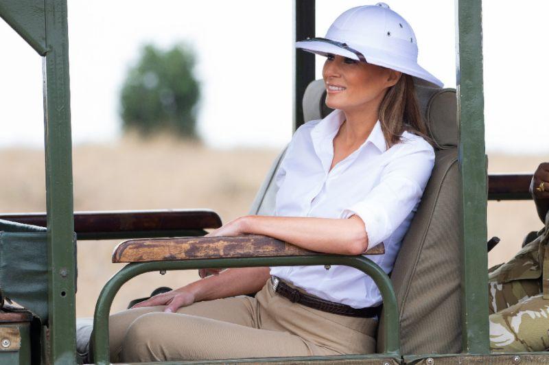 скандальная шляпа Мелании Трамп