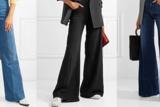 Трендовые джинсы-клеш