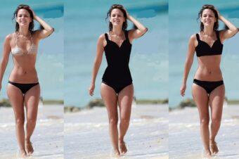 Выбор купальника для невысокой девушки с широкими бедрами