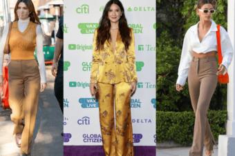Носим  брюки:  модные идеи от звезд
