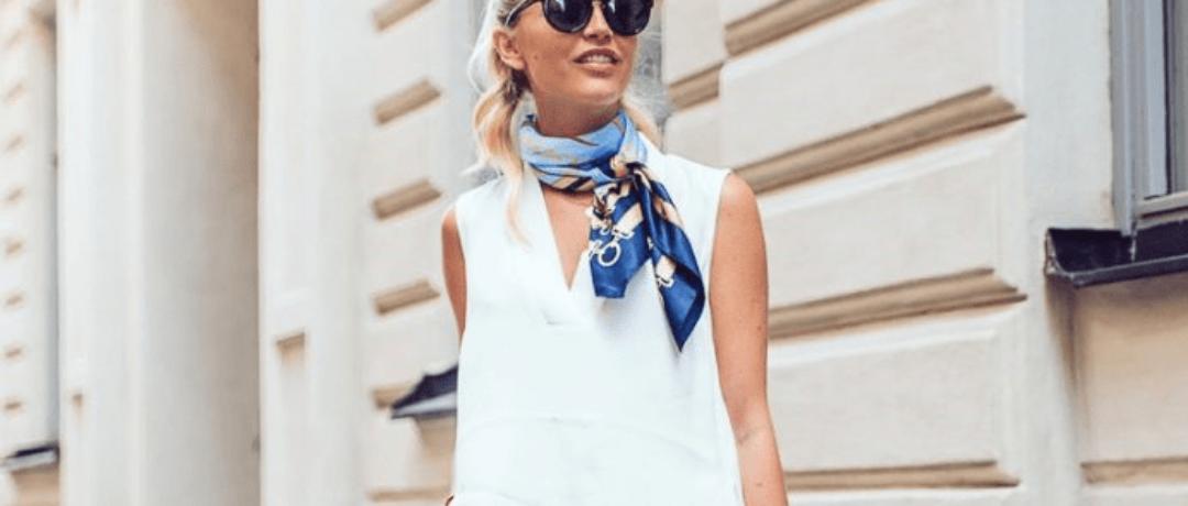 Летние идеи для платков и шарфов